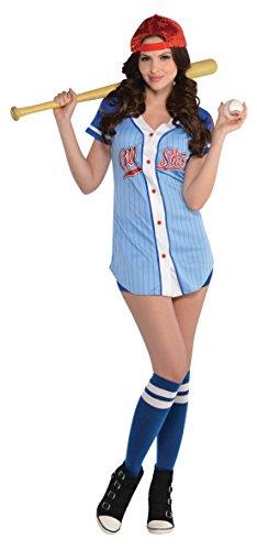 Amscan Dress Up Baseball Babe–Größe 10–12