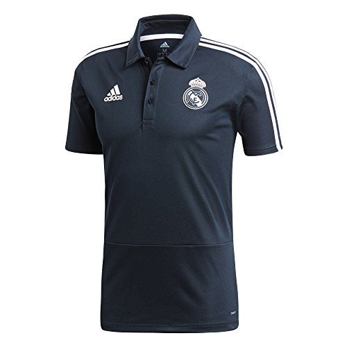 adidas Real Madrid Polo pour Homme S Tech Onix/Nero/Core White