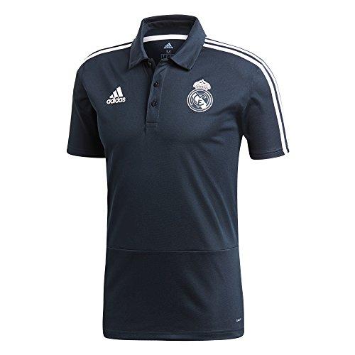 adidas Real Madrid Polo Hombre, Hombre, Polo, CW8641, Tech Onix/Nero/Core White, S