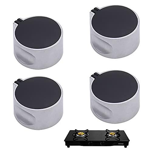 JPGhaha 4Pcs 6mm Perillas de Control Mandos Cocina Gas Universal Botones de Cocina de Gas de Aleación de Zinc Accesorios de repuesto de Horno y Microondas
