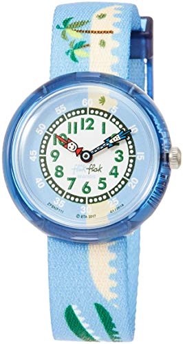 Flik Flak Reloj Analógico para Nios de Cuarzo con Correa en Tela FBNP111