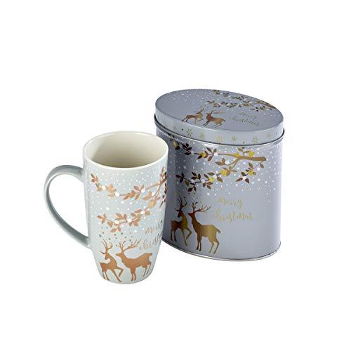 Arthur Price XMUG0004 - Tazza in ceramica con motivo renna