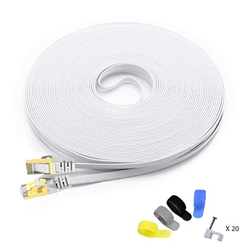 CableGeeker Cat7 Shielded Ethernet Cable 100ft (Highest Speed Cable)...