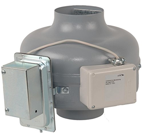 """Continental Fan Manufacturing DVK100B-PM 152 CFM In-Line Dryer Booster Duct Fan for 4"""" Ducts from the DVK Collection"""