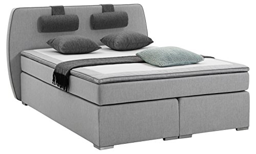 Atlantic Home Collection Boxspringbett REX, 140 x 200 cm, inklusive Topper (Härtegrad H2) und...