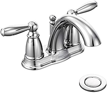 Moen Brantford Two-Handle Low-Arc Centerset Bathroom Faucet