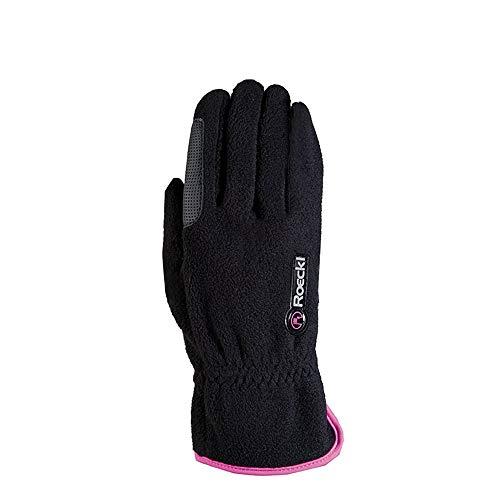 Roeckl Sports Junior Winter Handschuh Kairi, Kinder Reithandschuh, Schwarz/Pink, 5