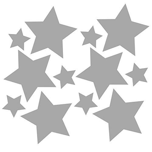3M Reflektoren Sticker zum Aufbügeln für Kleidung - Aufbügler-Set (12 Stück) - Reflektor-Aufkleber zur Sicherungs-Markierung von Kinderkleidung, Kinderwagen oder Schulranzen (Sterne)