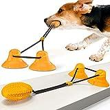 Juguete con ventosa, juguete para masticar para perros, con ventosa, juguete para morder para perros (naranja)
