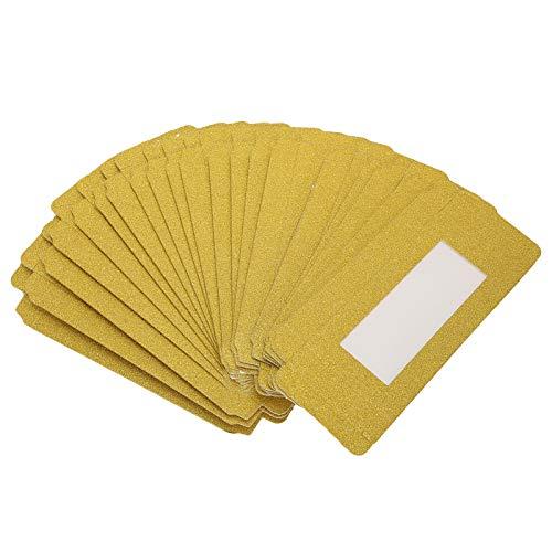 Boîte d'emballage pour soins des cils - Boîte de rangement pour les salons de beauté (doré)