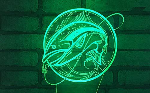 3d nachtlichter für kinder angeln bunte änderungen touch konsole lichter optische täuschung usb lade licht riss basis tischlampe acryl bord nachtlichter geschenk lichter wohnkultur lichter