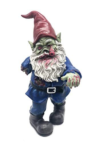 FICITI Zombie-Zwerg, böses Zwerg, Gruseliger Zwerg, Gehender Tot, Gartenzwerg, Halloween-Dekoration – 25,4 cm
