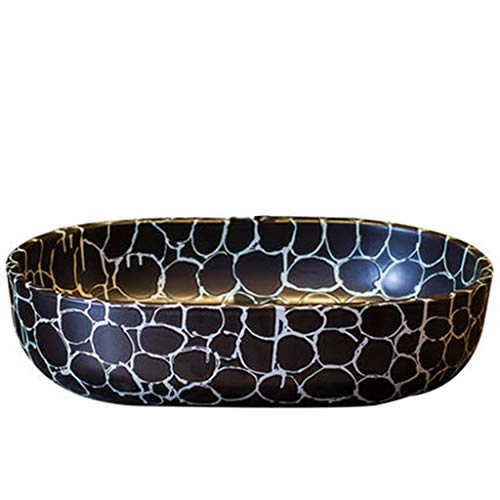 GEEN BAND Imitatie Gans Zachte Stone Carving Art Container Ovaal Handgemaakte Wear-Resistant Wastafel, 59CM*40CM*15CM 1219