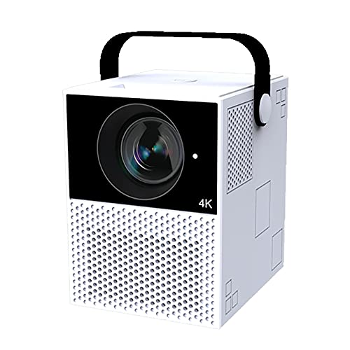 YUNZHIDUAN Mini Proyector, Proyector Portátil 4K 1080, Proyector Doméstico, Smart Android 9.0, WiFi De Banda Dual De 2,4g / 5g, Proyector De Películas De Videojuegos LED De Hogar