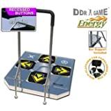 PS2 USB Energy Metal Arcade 3 in 1 Dance Pad with Handle Bars