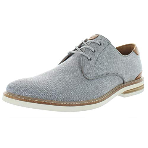 Florsheim Highland Canvas Plain Toe Oxford Gray Canvas/White Sole 9.5