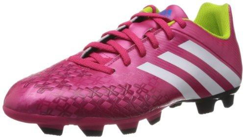Adidas Performance - Scarpe sportive - Calcio Predito Lz Trx Fg, Bimbo, Rosa (Pink (VIVID BERRY S14 / RUNNING WHITE FTW / SOLAR SLIME)),39