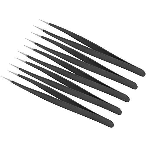 Pince à épiler antistatique en acier inoxydable Brucelles Travaux ménagers Couture(Straight tweezers)