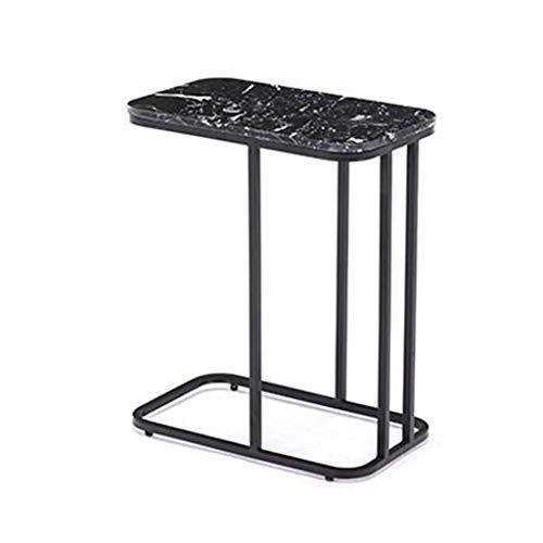 Eindtafel, Sofa bijzettafel, Bijzettafel Eindtafels, Nordic Coffee Table Iron Art Marmeren Theetafel U-Shaped Slaapbank Tafel, voor Woonkamer Office Slaapkamer