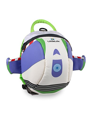 LittleLife Disney Toddler Backpack, Buzz Lightyear weiß/grün/lila, Einheitsgröße