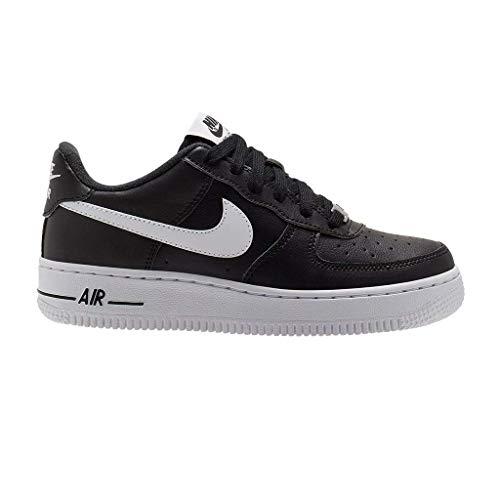Nike Unisex-Child AIR Force 1 AN20 (GS) Running Shoe, Black/White, 38 EU