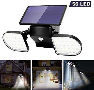 OUSFOT Luz Solar Exterior 56 LED Foco Solar con Sensor de