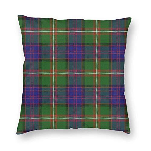 Clan Donald Tartan - Funda de cojín de algodón para sofá, decoración del hogar, 45 x 45 cm