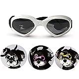 Occhiali da Sole per Animali Occhiali da Sole per Cani Impermeabile A Prova di Vento Occhiali di Sicurezza Occhiali da Sole Eleganti per Cani di Taglia Media E Piccola Gatti per Cani-bianca