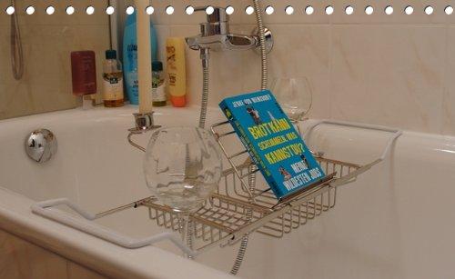 Praktische Badewannen Ablage für gemütliche Stunden