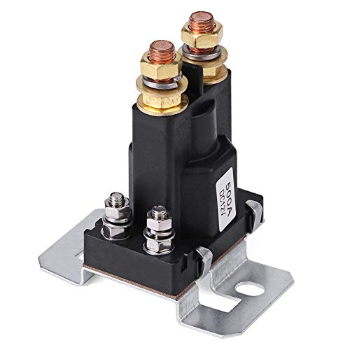 YELLAYBY Retardo de tensión Relé de Arranque, Aplicaciones de Alta Corriente de Arranque del relé 500A DC 12V SPST Inicio automático contactor universales for la batería de Doble
