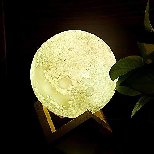 Amazon 3D modelos de impresión luna luna noche explosión de luz ilumina la luna de la noche Lámpara de mesa