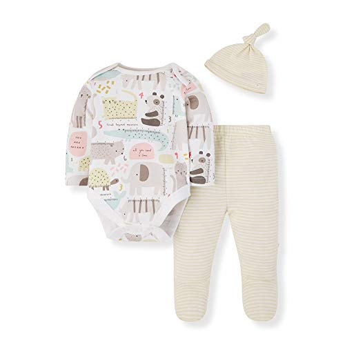 Mothercare Unisex Baby Io U M&d 3pc Set Body, Schwarz (Lights Multi 213), 3-6 Months (Size:68)