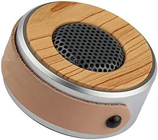KJRJLY Bluetooth Speaker, Creative Gift Audio Portable High-Grade Wood Grain Speaker Car Bluetooth Subwoofer Small Speaker Suitable for Festival Activities