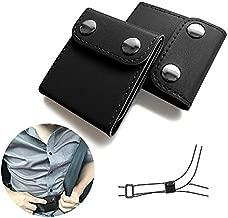 JUSTTOP Seat Belt Adjuster, 2 Pack Universal Vehicle Seat Belt Cover Clips, Comfort Auto Shoulder Neck Protector Strap Positioner Locking Clip-Black