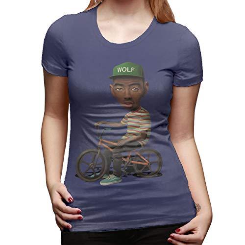 Mary West Tyler, el Lobo del creador Camiseta de Manga Corta de Corte clásico para Mujer Camisetas de Manga Corta Camiseta con Cuello Redondo Tops Moda