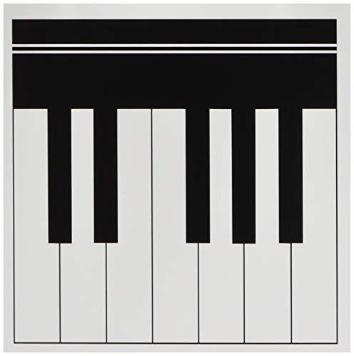 3drose pianistsleutels - zwart en wit toetsenbord musical design - Pianist muziekspeler en muzikantengeschenken - kaarten, 6 foto, set 6 (GC 112827 1)