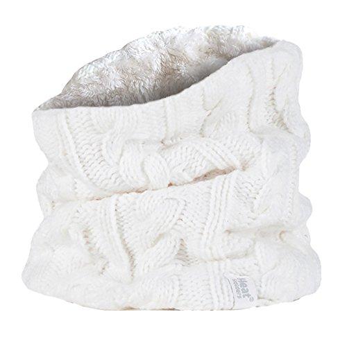 HEAT HOLDERS - Femme chaud hiver intérieur polaire cache-cou snood in 7 couleurs (One Size, Cream)