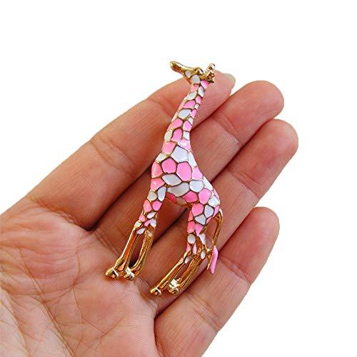 PULABO BilligBunter Tropfenfänger, der Giraffen-Broschen-Stift-Weihnachtshochzeits-Geschenk für die Frauen stilvoll und populär leckt