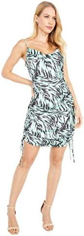 WAYF Leola Cowl Ruched Mini Dress Mint Tiger MD product image