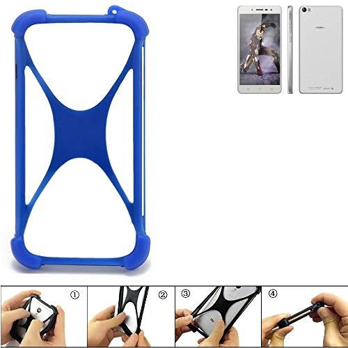 K-S-Trade® Handyhülle Für Hisense L671 Silikon Schutz Hülle Cover Case Bumper Silikoncase TPU Softcase Schutzhülle Smartphone Stoßschutz, Blau (1x),