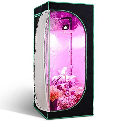 femor Growzelt reflektierendes Mylar Hydroponic Grow Tent | Zimmerpflanzen Zelt | Gewächshaus Zuchtzelt | Darkroom Pflanzenzelt (60 x 60 x 140 cm)