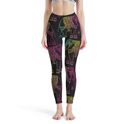 NiTIAN Dames Theme Yoga Pants Lange broek Elastische ademende Tights Comfort Yoga Sportbroek S-XL