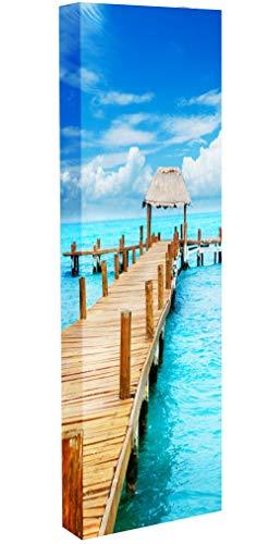 Lightclub-Shop.de Schuh-Bert 500 Motiv 194 weiß Schuhschrank Mehrzweckschrank drehbar Karibik Strand