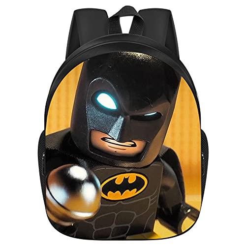 Lego Batman, zaino per bambini con anime, grande capacità e resistente all'usura, ultraleggero e adatto come regalo per ragazzi (A08,13 pollici)