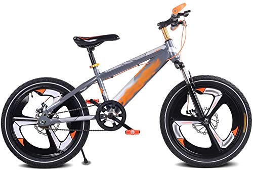 QULONG Bicicleta para niños Bicicleta a prueba de golpes para niños, 16/18/20 pulgadas Bicicleta de montaña para estudiantes con frenos de disco y velocidad única impactante Bicicleta para niños a pru