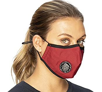 ECO-GEAR Anti Pollution Face Mask Particulate Respirator| Mask for Dust Exhaust Gas Smoke Smog Pollen and Fumes | Unisex Military Grade Washable Mouth Mask