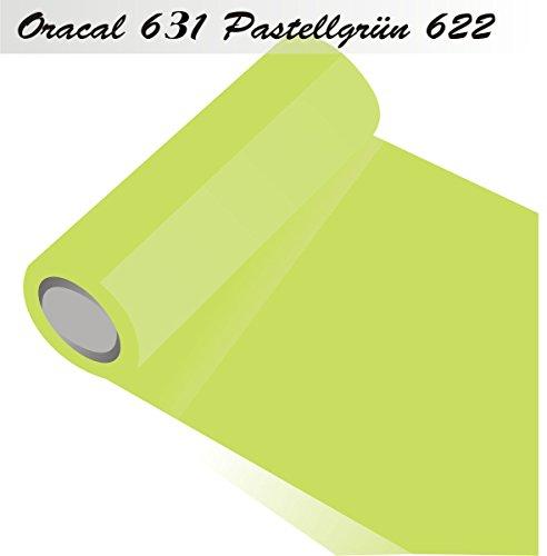 Oracal 631 Orafol matt - für Küchenschränke - Dekoration/Autobeschriftung/Schutzfolie Folie 5m - Breite 31,5 cm - Farbe 622 - Pastellgrün - Markierungen, Beschriftungen und Dekorationen - Klebefolie