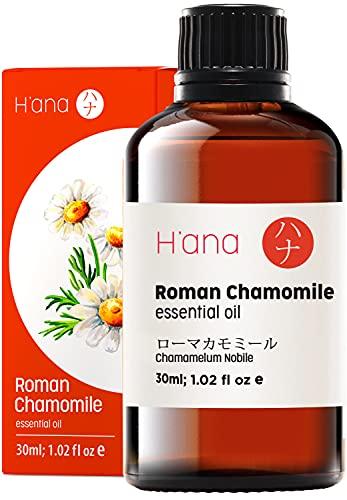 Aceite esencial de manzanilla romana Hana – calma el estrés y las irritaciones de la piel – para los estados de ánimo cuidadoso – 100 puro grado terapéutico para aromaterapia y uso tópico – 30 ml