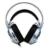 WYH Musik Virtuelles 7.1-Kanal-Gaming-Headset mit Subwoofer Rauschunterdrückungs-Mikrofon...