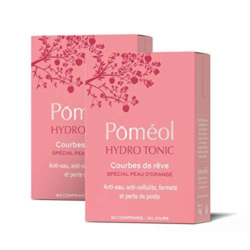 POMÉOL ǀ Complément minceur anti-eau - HydroTonic ǀ 2 x 30 j ǀ Reine-des-prés, Cerise, Artichaut, Vit. B, C